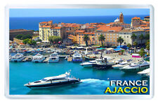 AJACCIO FRANCE FRIDGE MAGNET SOUVENIR IMAN NEVERA