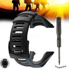OEM Watch Band Strap For SUUNTO Ambit3 PEAK/Ambit 2/1 Soft Black Rubber