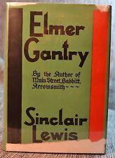 Elmer Gantry Sinclair Lewis Hardcourt Brace Hardback/Jacket 1st Edition 1927