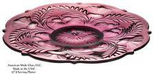 Amethyst Glass Inverted Thistle Pattern Large Platter - Mosser USA