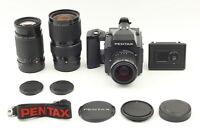 【N MINT】 Pentax 645 Medium Format Camera SMC A 55 80-160 200mm 3 Lens from JAPAN
