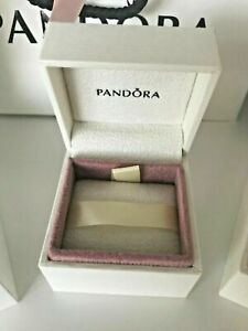 Genuine PANDORA Charm Box, gift box, charm, earrings - CREAM - 5x5x4cm
