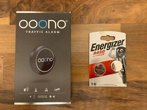 ooono Verkehrsalarm Warnt vor Gefahren im Straßenverkehr + 2 Ersatzbatterien