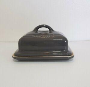 Le creuset stoneware butter dish dark grey