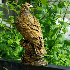 Garden Resin Ornament Figurine Eagle Statue Lifelike Bird Home Decor.-Bronze