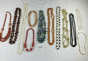 Job Lot Bead Necklaces Vintage and Modern Costume Jewellery