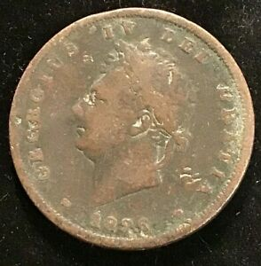 1826 KING GEORGE IV GREAT BRITAIN PENNY (1d)
