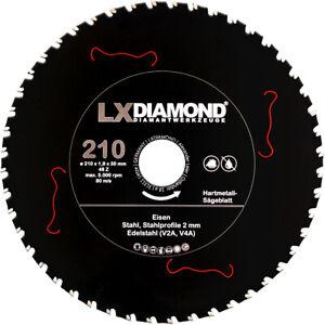 LXDIAMOND Hartmetall Sägeblatt 210mm x 30,0mm für Eisen Stahl Edelstahl V2A V4A