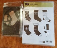 Stampin Up! STITCHED STOCKINGS & STOCKING BUILDER PUNCH Retired new