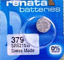 379 RENATA WATCH BATTERIES SR521SW New packaging Authorized Seller