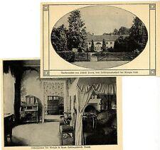 2 Ansichten Schloß Paretz Lieblingsaufenthalt d. Königin Luise Bilddokument 1911