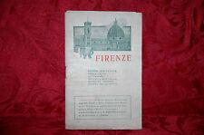 Guida Città di Firenze Città e Dintorni Carta Geografica e Illustrazioni 1908