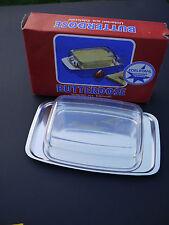 Butterdose DDR Edelstahl OVP Plaste Deckel durchsichtig transparent