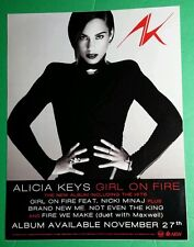 Alicia Keys Girl On Fire B&W Ak Photo Poster Large Window Cling