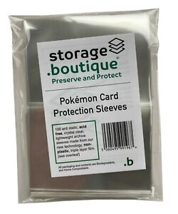 storage.boutique Pokémon Card Protection Sleeves, Acid Free (94x67mm), 100
