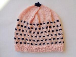 Babymütze, Wolle, Mütze gestrickt, Handarbeit, 34-38 cm