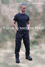 1/6 Scale Male Soldier Black Tactical Pants Combat Trousers F 12'' Action Figure