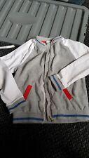 grey and white zip up kids jacket 9-10