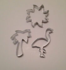 Summer Days Cookie Cutters, Set of 3, Palm Tree, Flamingo, Sun