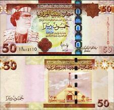 LIBYA 50 DINARS 2008 UNC P.75 MUAMMAR GADDAFI