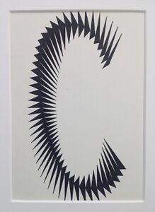 Walter Frans PONSAERT (1924-1991) Encre Composition IV 1970 Op Art Cinétique