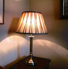 Antique Brass Oxford Reeded Fluted Column Table/Bedside Lamp Base - Looks Unused