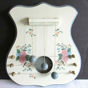 "Decorative Folkart Dulcimer MUSICAL Instrument Decor Wall Hanger 9x10"" FREE SH"
