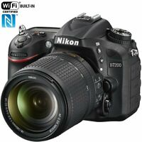 Nikon D7200 24.2 MP DX-Format Digital SLR Camera with 18-140mm VR Lens (Black)