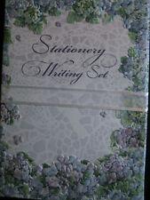 Carol Wilson Fine Arts Writing Set Lined Hydrangea Stationery 25 Sheets Glitter