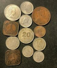 Old Malaya Coin Lot - 1903-1961 - 12 Vintage Coins - Lot #N18