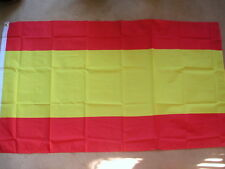 SPAIN (NO CREST) FLAG 3 x 2 BRAND NEW EYELETS POLYESTER POST FREE IN UK