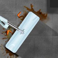 Microfiber Dust Mop Self Wringing Laminate Wood Floor Clean Flat Mop Dry Wet 90