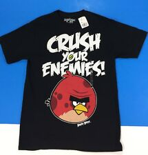 Angry Birds T-Shirt Mens Size M Crush Your Enemies Red Bird Black Shirt New Tags