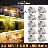 10PCS Cree 3W MR16 COB LED Spot Light Lamp Warm White Bulbs Spotlight 12-24V NEW