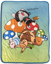 **Legit** Airou From Monster Hunter Naptime Authentic Anime Throw Blanket #57067