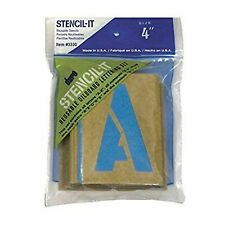 "Large Alphabet Stencils Letters 4"" Stencil Oil Board Numbers Symbols Reusable ."