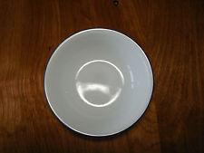 "Corelle Set of 2 Fruit Bowls 5"" White Coupe 1 navy Blue Stripe"