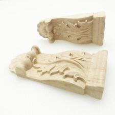 Vintage / Dekorativ Holz Schnitzen Kragstein Tiefer Möbel Guß Applikationen