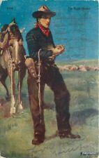 Artist Impression Night Herder C-1910 Haffner postcard 10918
