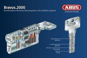 ABUS Bravus 2000 Profilzylinder/Doppelzylinder Not&Gefahrenfuntion 4 Schlüssel
