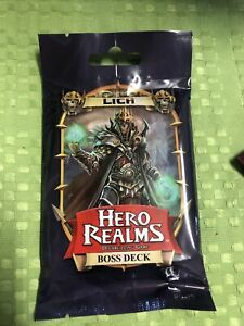 Hero Realms - Deck Building Game - Lich Boss Deck - Brand New In Packet