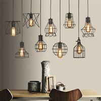 Edison Vintage Ceiling Metal Chandelier Industrial Pendant Light Fixtures Cage