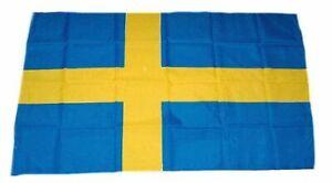 Flaggenfritze/® Gro/ße Stockflagge Schwenkflagge Schweden 60 x 90 cm