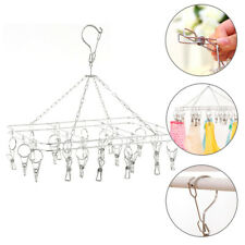 Us Clothes Hanger Clips Laundry Hanging Dryer Socks Rack Holders Square 20 Clips