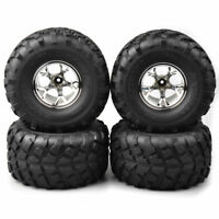 4Pcs Bigfoot Rubber Tires&Wheel Rim 12mm Hex for 1:10 Monster Truck RC Model Car