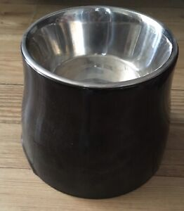 Dogit Black Elevated Dog Dish 900 ml Raised Puppy Food & Water Bowl