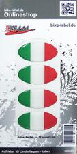 Aufkleber 3D Länder-Flaggen - Italien Italy 4 Stck. je 50 x  25 mm - 300082