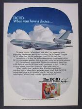 1977 McDonnell Douglas DC-10 DC10 Jet airliner art vintage print Ad