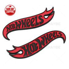Camaro 3D Hot Wheels Letter Fender Marker Logo Emblem Badge ZL1 Z28 Black Red