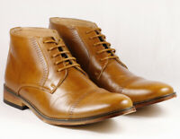 """Tan Men's Lace Up Cap Toe Dress Ankle Chukka Boots """" PREOWNED """""""